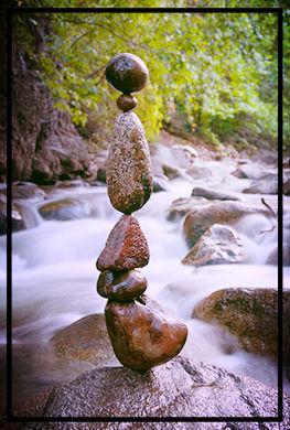rocks, stream, balance