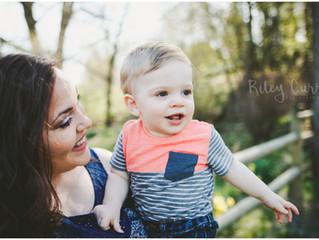 Happy Spring! Elliott One Year | Iowa City Family Photographer