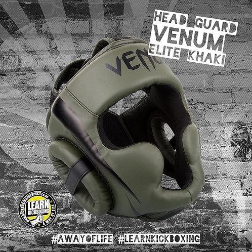 Venum Elite Head Guard (Khaki)