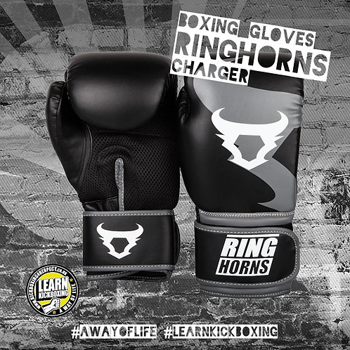 Ringhorns Charger Boxing Gloves (Grey)