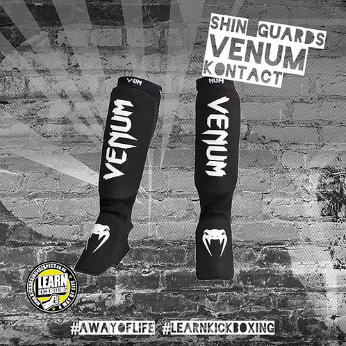 Venum Kontact Shin Guards (Black)