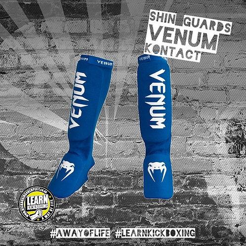 Venum Kontact Shin Guards (Blue)