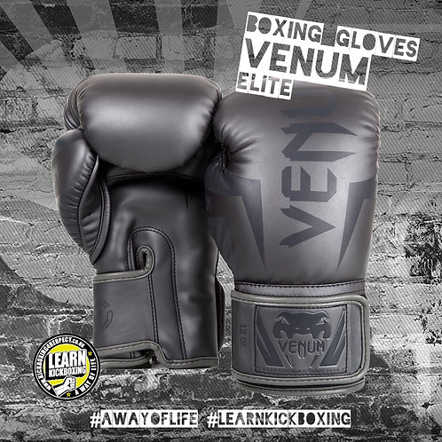 Venum Elite Boxing Gloves (Grey)