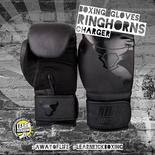 Ringhorns Charger Boxing Gloves (Black)