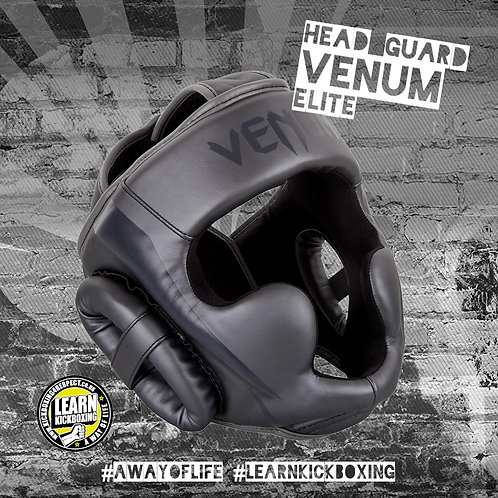 Venum Elite Head Guard (Grey)