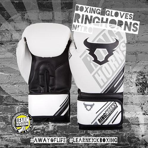 Ringhorns Nitro Boxing Gloves (White)