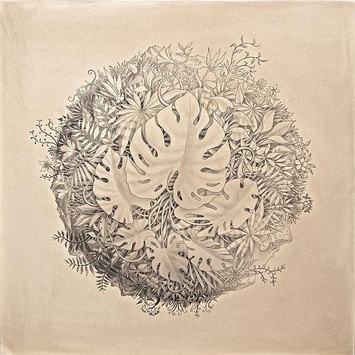 """""""Wanderer III"""", Original painting, 100cm x 100cm"""