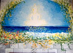 Buddha Cloud Over the Sea