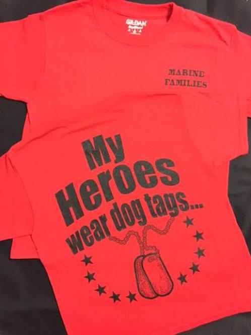 Marine Families Ladies V-Neck Shirt