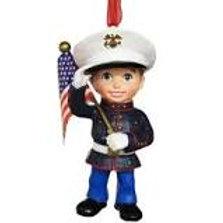 US Marine Boy Ornament