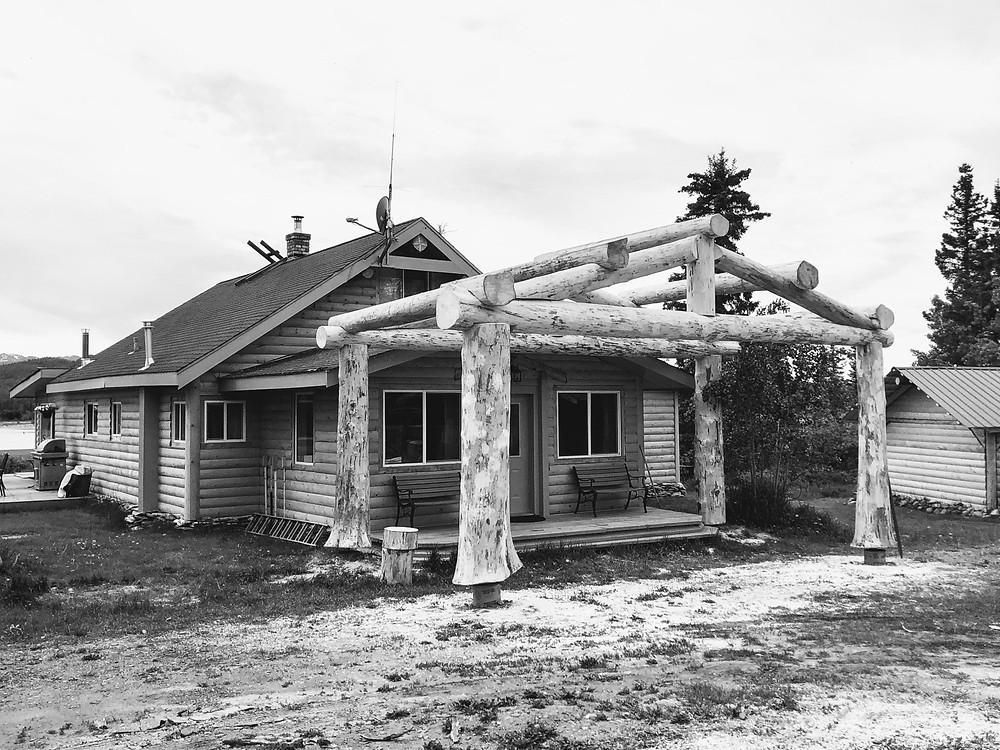 Log Porch Entrance Eagle Bear Lodge