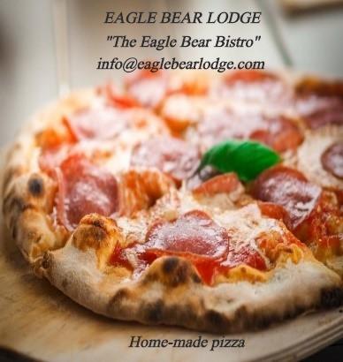 Pizza for lunch Eagle Bear Lodge, Tatla Lake, BC