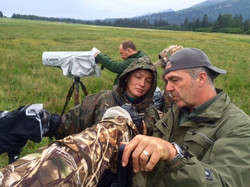 David Hemmings teaching photo in Alaska