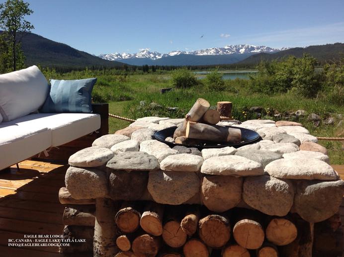 New! Custom built firepit at Eagle Bear Lodge