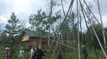 Oh Canada! Teepee Building at Eagle Bear Lodge
