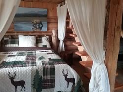 Moose Cabin Queen Bed Main Floor