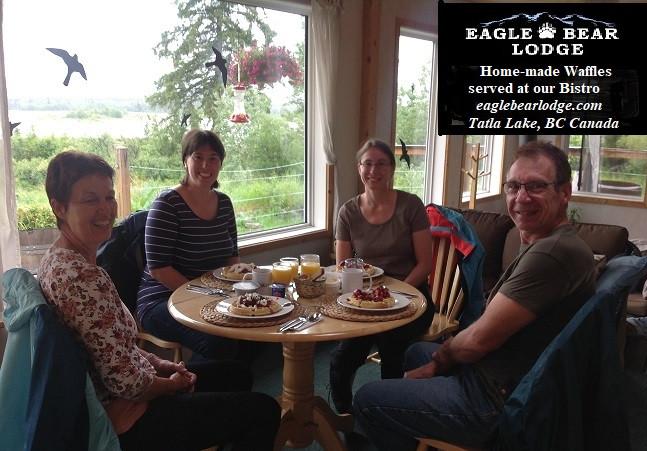 Home-made Waffles at Eagle Bear Lodge