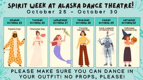 Spirit Week is October 25 - 30. Show Your Spirit, Dancers!