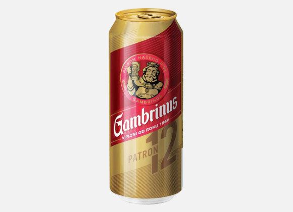 Gambrinus pivo 12% 500 ml PLECH