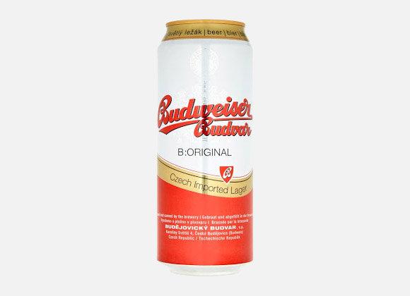 Pivo Budvar 12° plech, 500ml