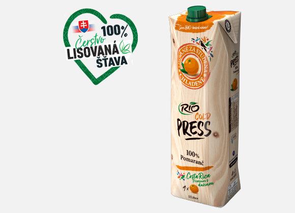 Šťava pomarančová Rio Fresh 100% 1l