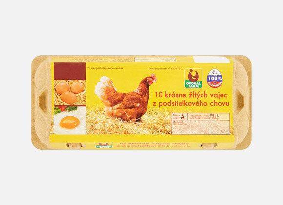 Vajcia podstielkové 10ks