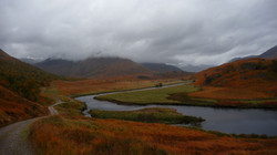 Cloudy skies over Affric