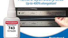 Permabond Launches New Highly Flexible Cyanoacrylate Range - Elongation up to 400%!