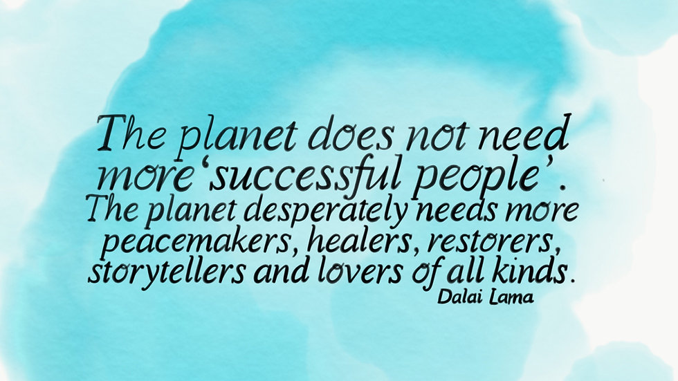 Peacemakers, healers, restorers