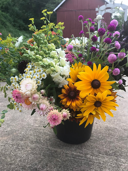 DIY Floral Bucket