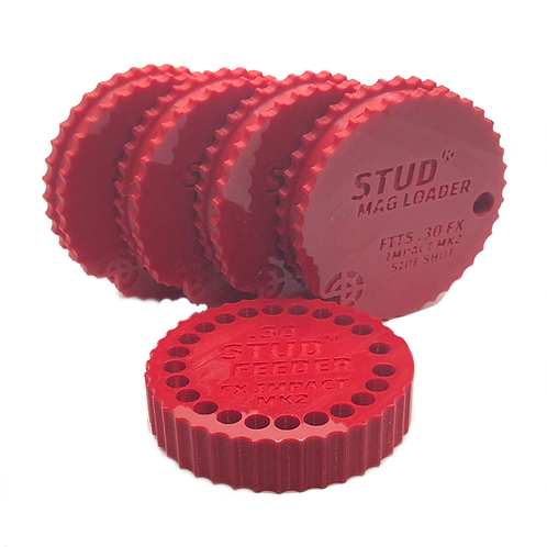 Fits: FX Impact MK2 - .30 Bundle - Stud Mag Loaders and Feeder,Red