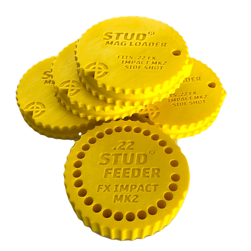 Fits: FX Impact MK2,3 - .22 Bundle - Stud Mag Loaders and Feeder, Yellow