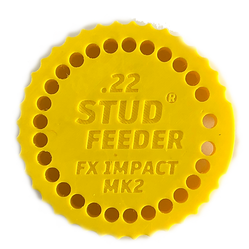 Fits: FX Impact MK2,3 .22 Feeder for Stud Mag Loader, Yellow
