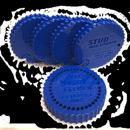 Fits: FX Impact MK2 - .177 Bundle - Stud Mag Loaders and Feeder, Blue