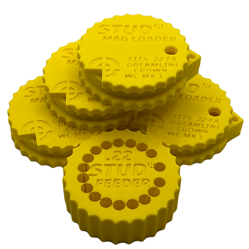 .22 Bundle - Stud Mag Loaders and Feeder, Yellow To Fit: FX MEGA (New Version)