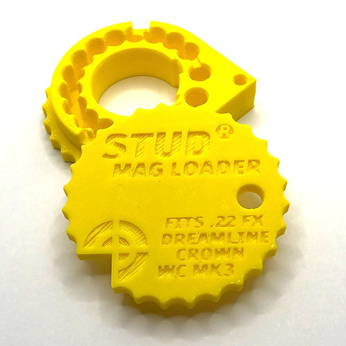 .22 Stud Mag Loader, Yellow To Fit: Maverick/Dreamline/Crown/WCMK3