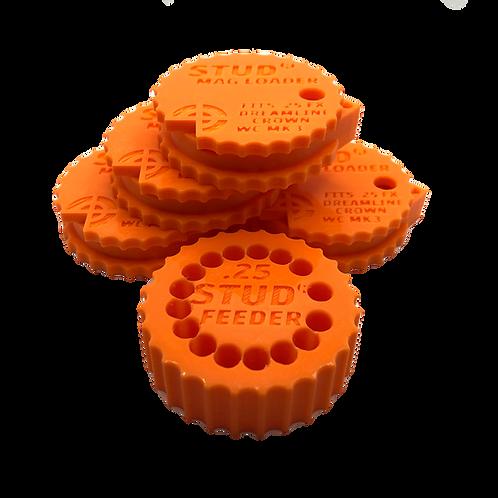 .25 Bundle - Stud Mag Loaders and Feeder, Orange To Fit: FX MEGA (New Version)