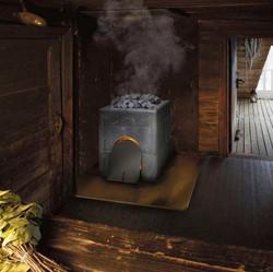 Банная печь по-чёрному Tulikivi
