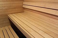 Полки в бане из Осины, отделка саун и бань в СПБ