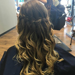 Waterfall braid style