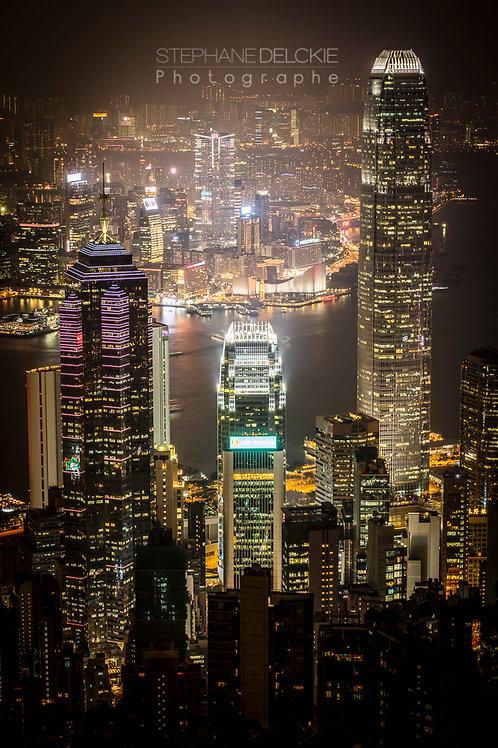 Building de nuit, Hong Kong