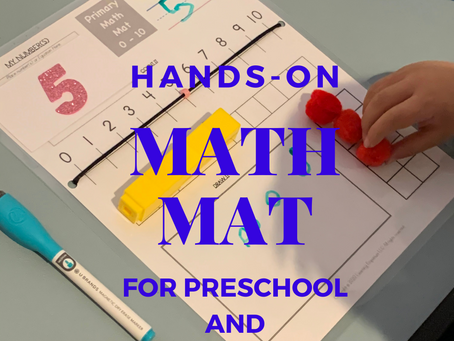 Hands-On Math Mat for Preschool and Kindergarten