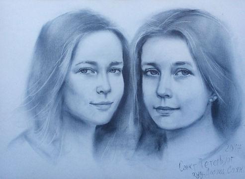 Портреты с натуры близнецы