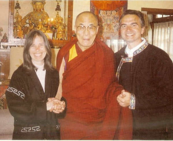 Bo and Sita Lozoff wtih DalaiLama - Huma