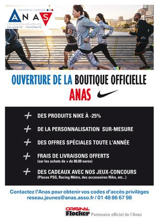 Boutique Nike de l'ANAS à -25%
