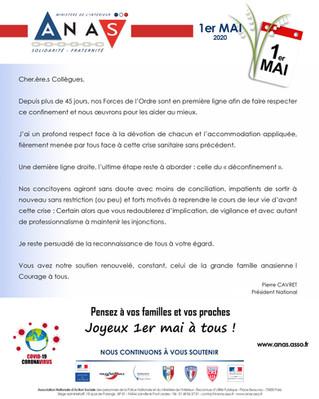 Editorial du Président national de l'Anas