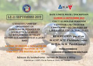 Concours de pétanque ANAS-UNRP