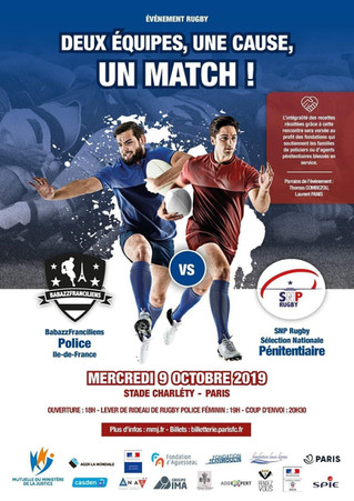 L'ANAS partenaire du match de rugby Police/Pénitentaire