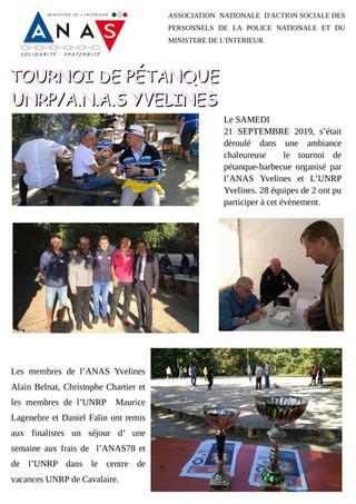 Tournoi de pétanque ANAS/UNRP 78