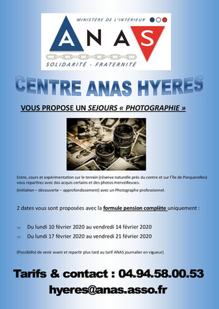 "Séjour ""photographie"" au centre ANAS de Hyères"